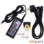Зарядка 4,8x1,7mm / 18,5V / 65W 3,5A / ADP-65HB (yellow tip) HP (оригинал)