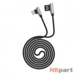 DATA кабель USB - micro USB HOCO U42 Exquisite Steel 1,2m черно-серый
