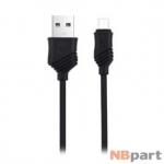 DATA кабель USB - micro USB HOCO X6 Khaki 1m черный