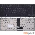 Клавиатура для Toshiba Satellite M640 черная с черной текстурированной рамкой