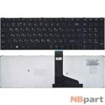 Клавиатура для Toshiba Satellite S50-A черная с черной рамкой