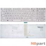 Клавиатура для Toshiba Satellite S50-A белая с белой рамкой
