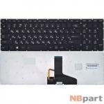 Клавиатура для Toshiba Satellite P55 черная без рамки с подсветкой