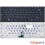Клавиатура для Toshiba Portege R830 черная с черной рамкой без подсветки