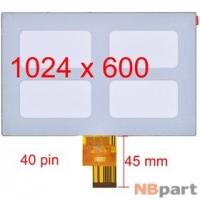 Дисплей 7.0 / шлейф 40 pin 1024x600 3mm / EJ070NA-01J / Acer Iconia Tab A100