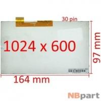 Дисплей 7.0 / шлейф 30 pin 1024x600 (97x164mm) 3mm / AL0203B 01