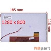 Дисплей 8.0 / шлейф 40 pin 1280x800 (116x185mm) 5mm / TL080WX800-V0