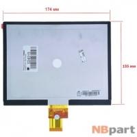 Дисплей 8.0 / шлейф 40 pin 1024x768 (135x174mm) 3mm / HJ080IA-01E