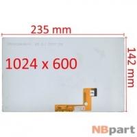 Дисплей 10.1 / шлейф 30 pin 1024x600 (142x235mm) 3mm / H101H30-V1