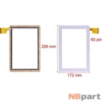 Тачскрин 10.1 60 pin (172x256mm) TPC0323 VER1.0 белый