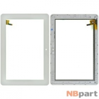 Тачскрин 10.1 9 pin (174x257mm) FPC.1010-0325-A белый с рамкой
