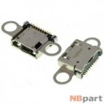 Разъем системный Micro USB - Samsung Galaxy A3 SM-A300F/DS (оригинал) / MC-225
