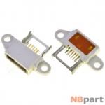 Разъем системный Micro USB - Xiaomi Mi Note (оригинал) / MC-421 белый