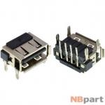 Разъем USB 2.0 / на плате / 10 x10mm / обратный / юбка / HP Pavilion g7-1000
