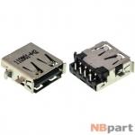 Разъем USB 2.0 / выше середины / 14 x12mm / прямой / юбка / Acer Aspire one D270 (ZE7)