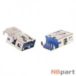 Разъем USB 3.0 / ниже середины / 17 x13mm / прямой / без юбки / голубой Acer Aspire V3-772G