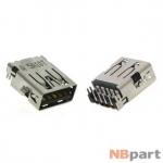 Разъем USB 3.0 / выше середины / 15 x12mm / прямой / без юбки / черный Asus X550