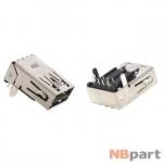Разъем USB 3.0 / на плате / 17 x17mm / прямой / без юбки / черный (025)