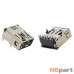 Разъем USB 3.0 / на плате / 14 x14mm / прямой / без юбки / черный (026)