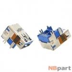 Разъем USB 3.0 / на плате / 17 x17mm / обратный / без юбки / голубой (028)