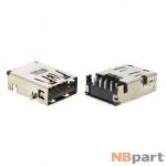 Разъем USB 3.0 / вровень по низу / 17 x13mm / прямой / без юбки / черный (029)