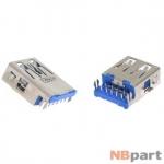 Разъем USB 3.0 / по середине / 16 x12mm / обратный / без юбки / голубой Asus Eee PC 1225B