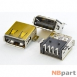 Разъем USB 2.0 / на плате / 14 x14mm / обратный / юбка