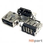 Разъем USB 2.0 / на плате / 12 x10mm / прямой / юбка / Lenovo ThinkPad X201