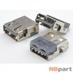 Разъем USB 2.0 / по середине / 15 x15mm / прямой / без юбки