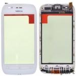 Тачскрин для Nokia Lumia 710 с рамкой белый (оригинал)