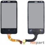 Тачскрин для Nokia Lumia 620 черный (оригинал)