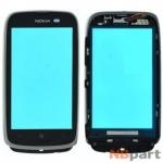 Тачскрин для Nokia Lumia 610 с рамкой черный (копия)