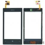 Тачскрин для Nokia Lumia 520 с рамкой черный