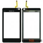Тачскрин для Nokia N8 (китайская копия) DF-021 черный