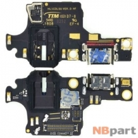 Шлейф / плата Huawei Honor 10 (COL-L29) (оригинал) на разъем питания