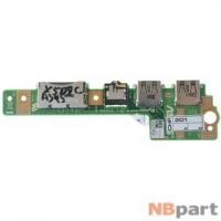Шлейф / плата Asus X502CA / 69N0P1B10B02-01 на USB