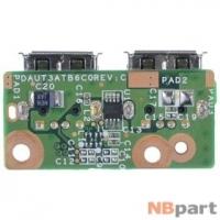 Шлейф / плата HP Pavilion dv6-2000 / DAUT3ATB6C0 REV:C на USB