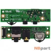 Шлейф / плата Asus W7 / 08G25WF02209 на аудио разъем