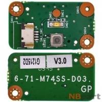 Шлейф / плата DNS Office (0117444) M748TG / 6-71-M74SS-D03 на кнопку включения