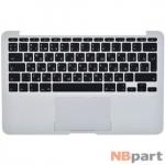 Клавиатура для MacBook Air 11 A1370 (EMC 2393) 2010 черная (Топкейс серебристый)