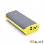 Внешний аккумулятор 5200mAh / 5V / 2,1A / USB / HOCO B21-5200 Tiny Concave / серый