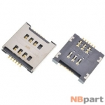 Разъем Mini-Sim 17-18mm x 17-18mm x 2,9mm LG Optimus L7 II Dual P715