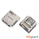 Разъем Nano-Sim+MicroSD 17-18mm x 15-16mm x 1,3mm Samsung Galaxy A3 SM-A300H