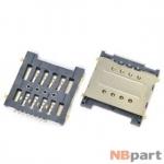 Разъем Mini-Sim 17-18mm x 17-18mm x 1,5mm Huawei Ascend G606-T00