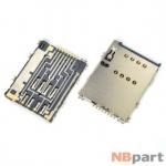 Разъем Mini-Sim 26-27mm x 19-20mm x 1,3mm Samsung Galaxy Tab 10.1 P7500 (GT-P7500) 3G KA-098