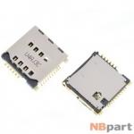 Разъем Mini-Sim+MicroSD 17-18mm x 16-17mm x 2,7mm KA-300