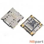 Разъем Nano-Sim+MicroSD 17-18mm x 16-17mm x 1,3mm Huawei Ascend Mate 7 (MT7-L09) KA-149