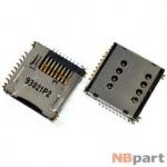 Разъем Mini-Sim+MicroSD 16-17mm x 16-17mm x 3mm HTC EVO 3D (G17) x515