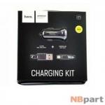 Зарядка USBx2 / 2,1A / HOCO Z1 АЗУ + Lightning черный